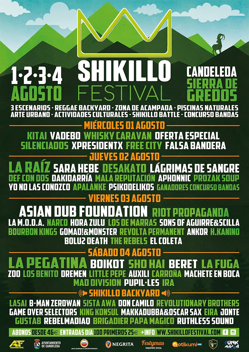 Shikillo Festival 2018 - Cartel - TiétarTeVe