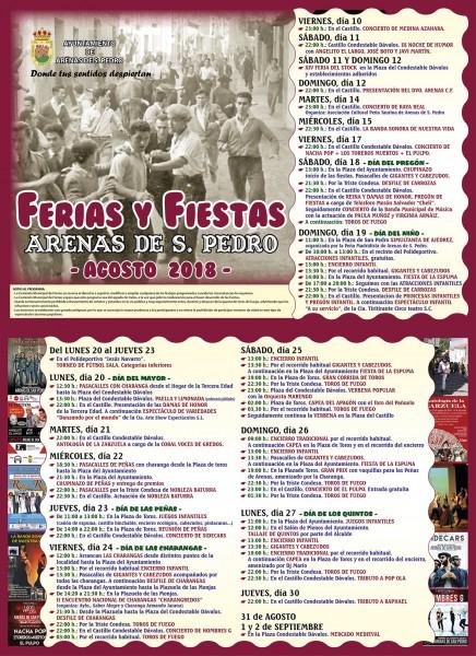 Ferias y Fiestas de Arenas de San Pedro - Agosto 2018 - TiétarTeVe