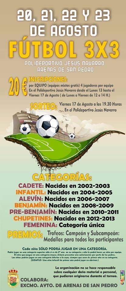 Fútbol Sala 3x3 - Arenas de San Pedro - TiétarTeVe