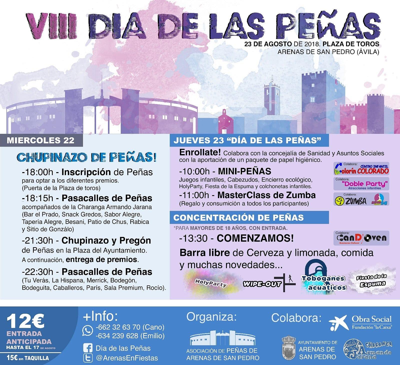 VIII Día de las Peñas - Arenas de San Pedro - TiétarTeVe
