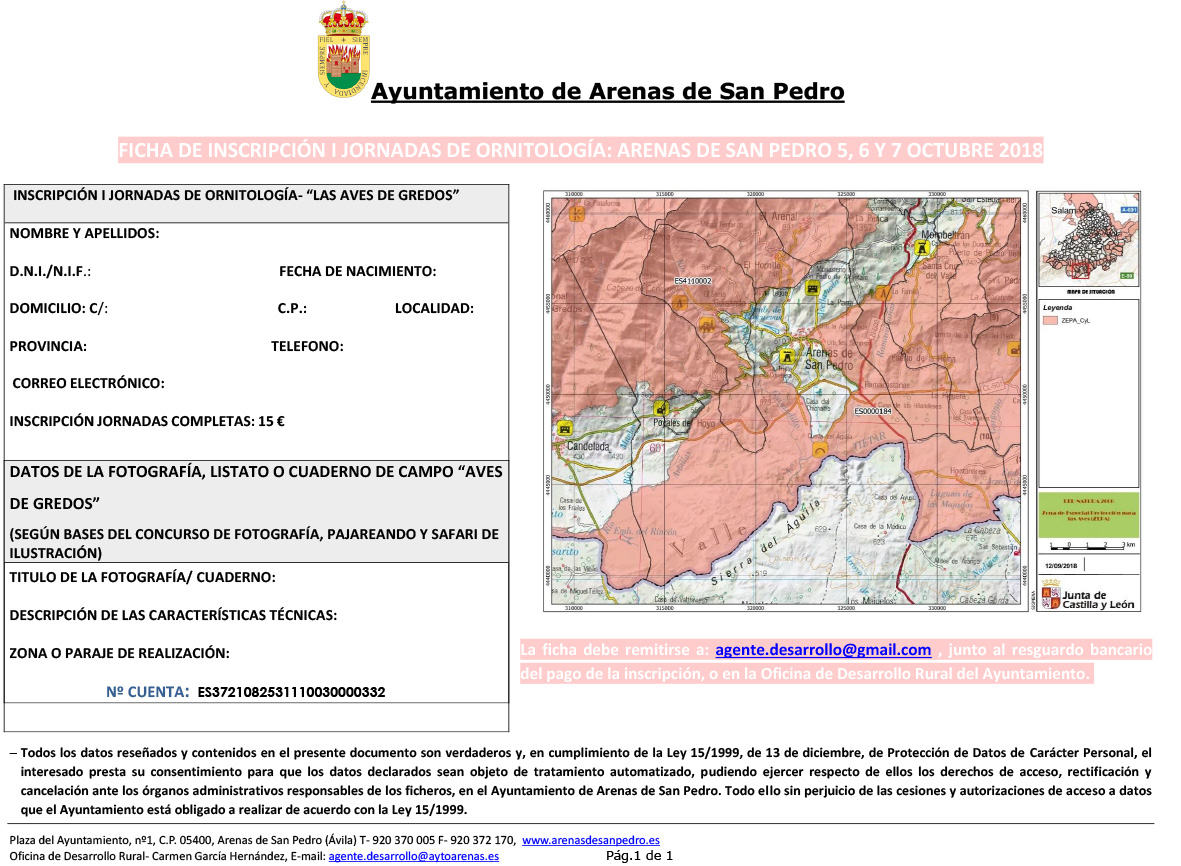 ficha-de-inscripcion-i-jornadas-ornitologia-Arenas de San Pedro - TiétarTeVe