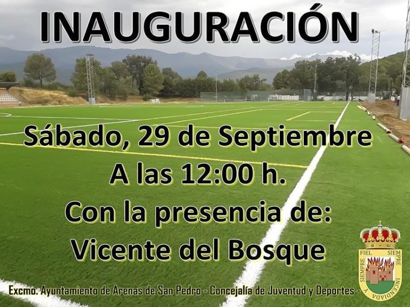 Inauguración Campo de Fútbol de Hierba Artificial - Arenas de San Pedro - TiétarTeVe