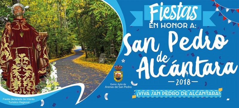 Cartel de las Fiestas de San Pedro de Alcántara 2018 - Arenas de San Pedro - TiétarTeVe
