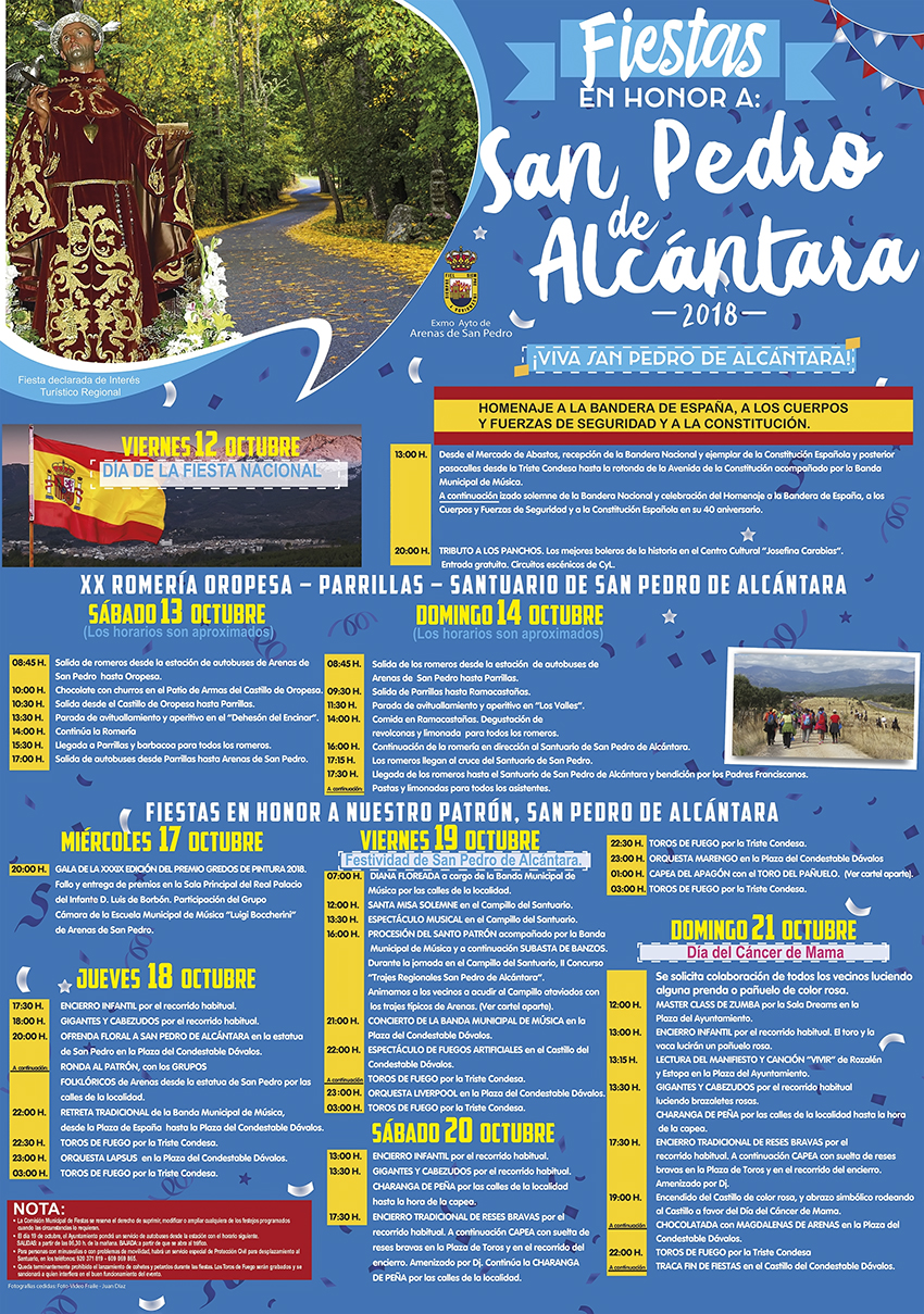 Fiestas San Pedro de Alcántara 2018 - Arenas de San Pedro - TiétarTeVe