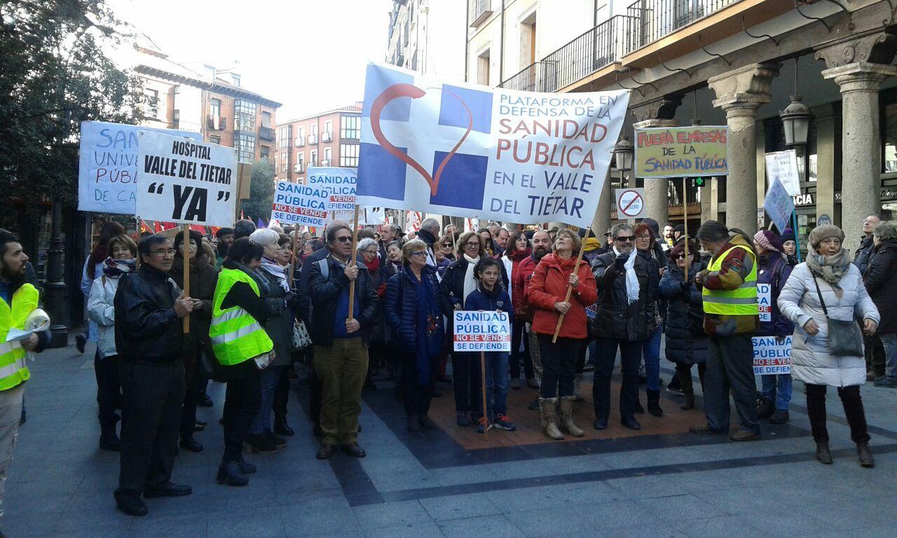 Manifestación en Valladolid - Plataforma en Defensa de la Sanidad Pública - TiétarTeVe