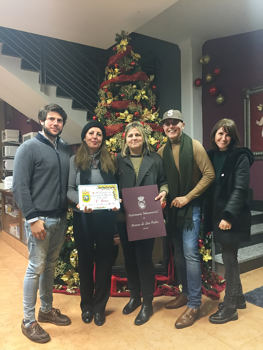 Primer Premio V Concurso de Escaparates Arenas de San Pedro - Azulejos Flores Decoración - TiétarTeVe
