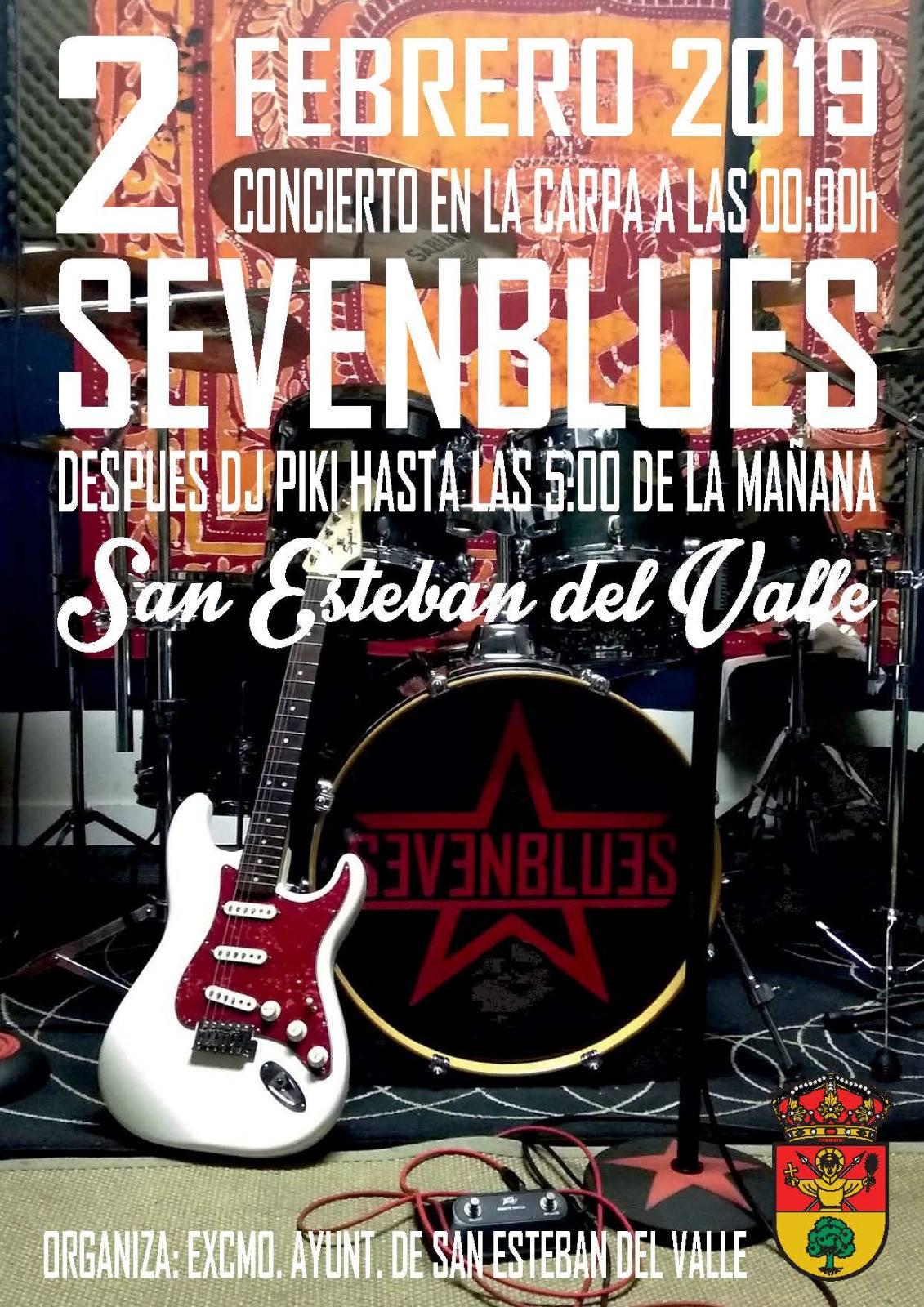 "Concierto de ""SevenBlues"" en San Esteban del Valle - TiétarTeVe"