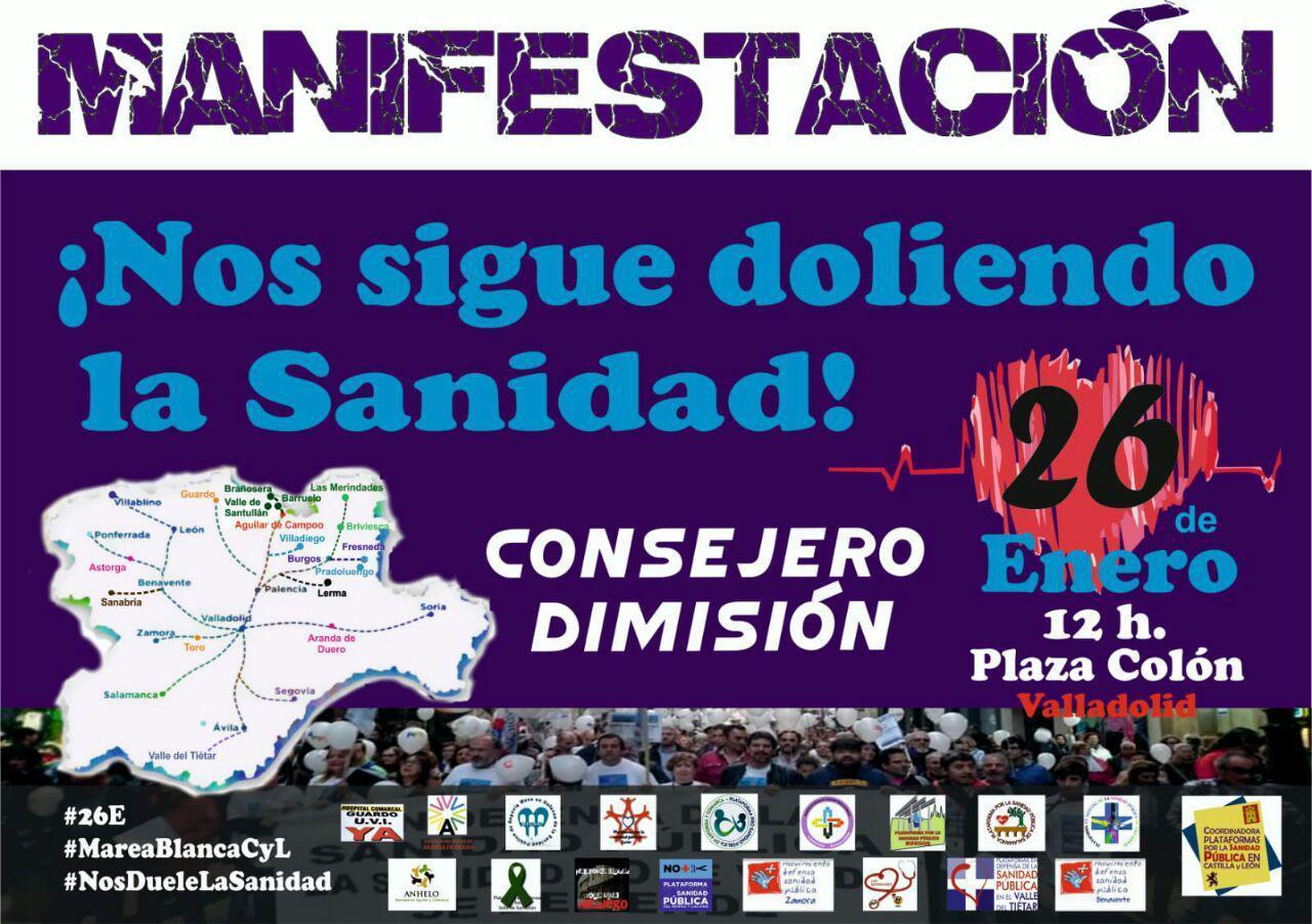 Manifestación en Defensa de la Sanidad Pública en Valladolid - TiétarTeVe
