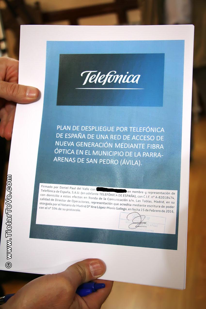 Telefónica despliegua Fibra Óptica en Ramacastañas y La Parra - Arenas de San Pedro - TiétarTeVe