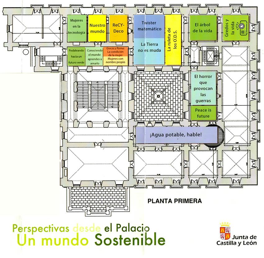 Plano Planta Primera - Perspectivas desde el Palacio: Un Mundo Sostenible - Arenas de San Pedro - TiétarTeVe