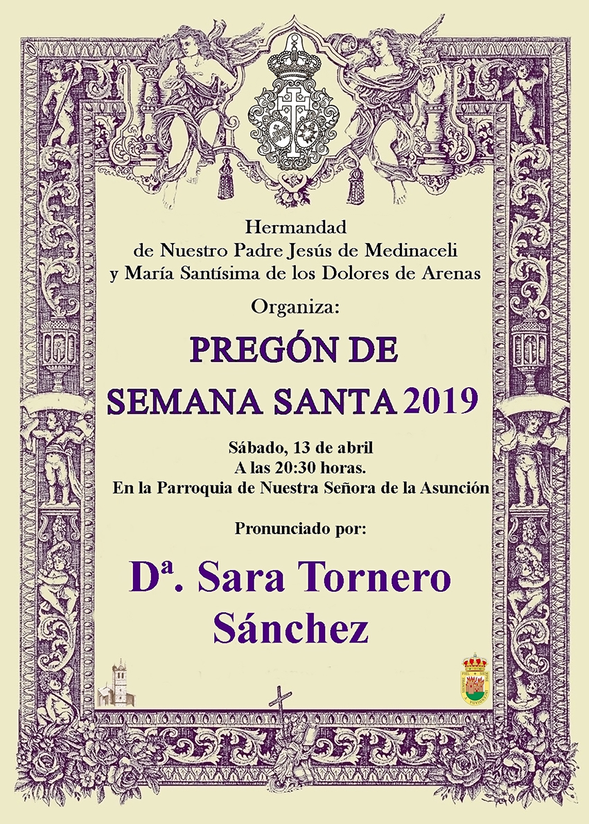 Pregón Semana Santa 2019 - Arenas de San Pedro - TiétarTeVe