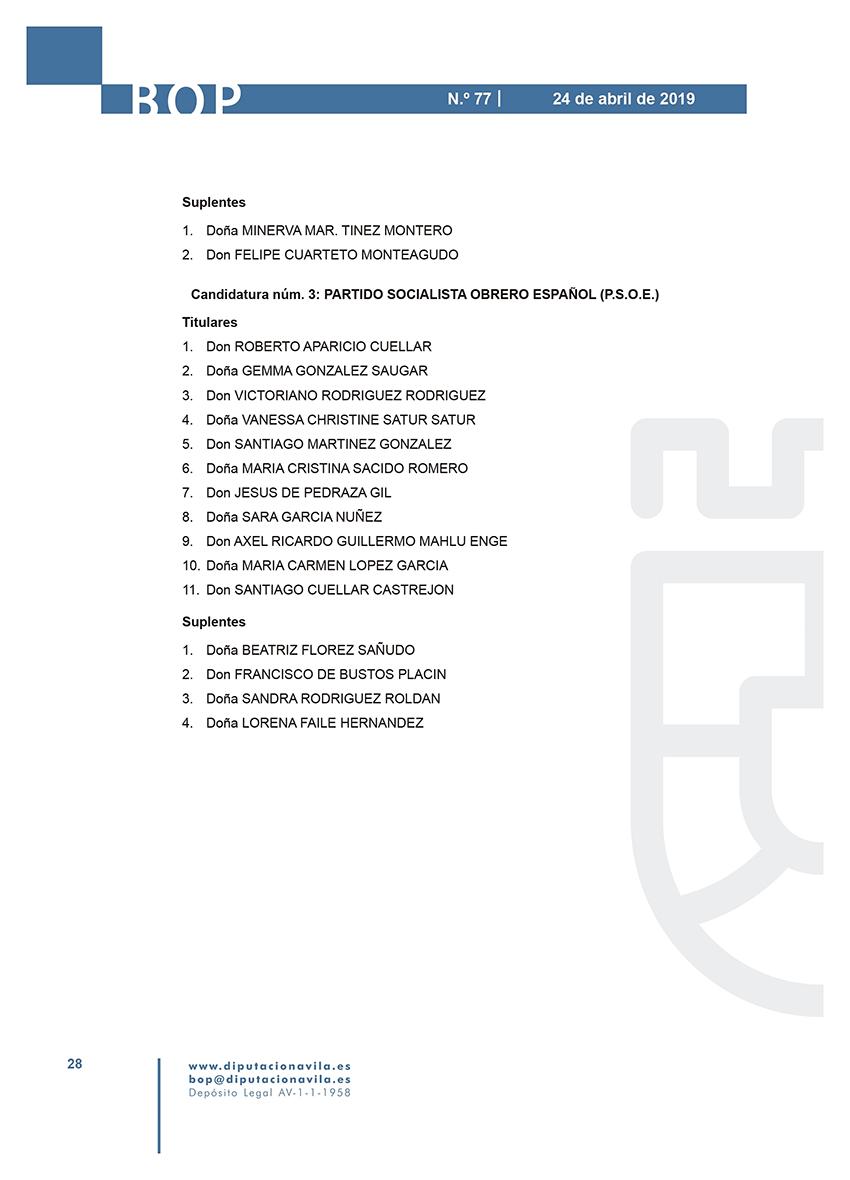 Elecciones Municipales 2019 - La Adrada - BOPA 24-04-2019 - TiétarTeVe