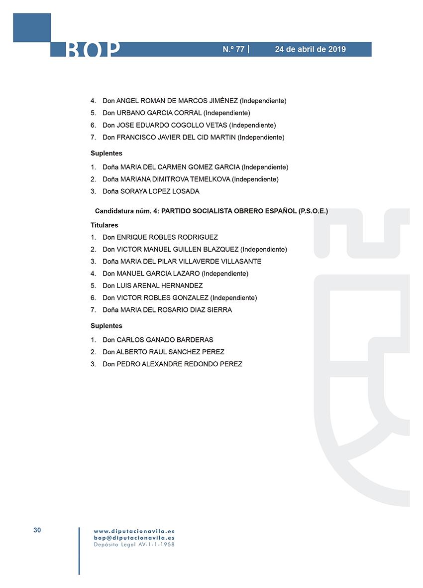 Elecciones Municipales 2019 - Lanzahíta - BOPA 24-04-2019 - TiétarTeVe
