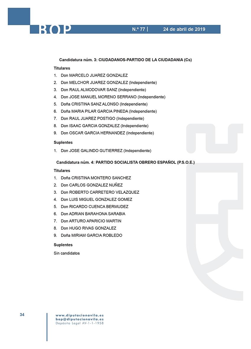 Elecciones Municipales 2019 - Mombeltrán - BOPA 24-04-2019 - TiétarTeVe