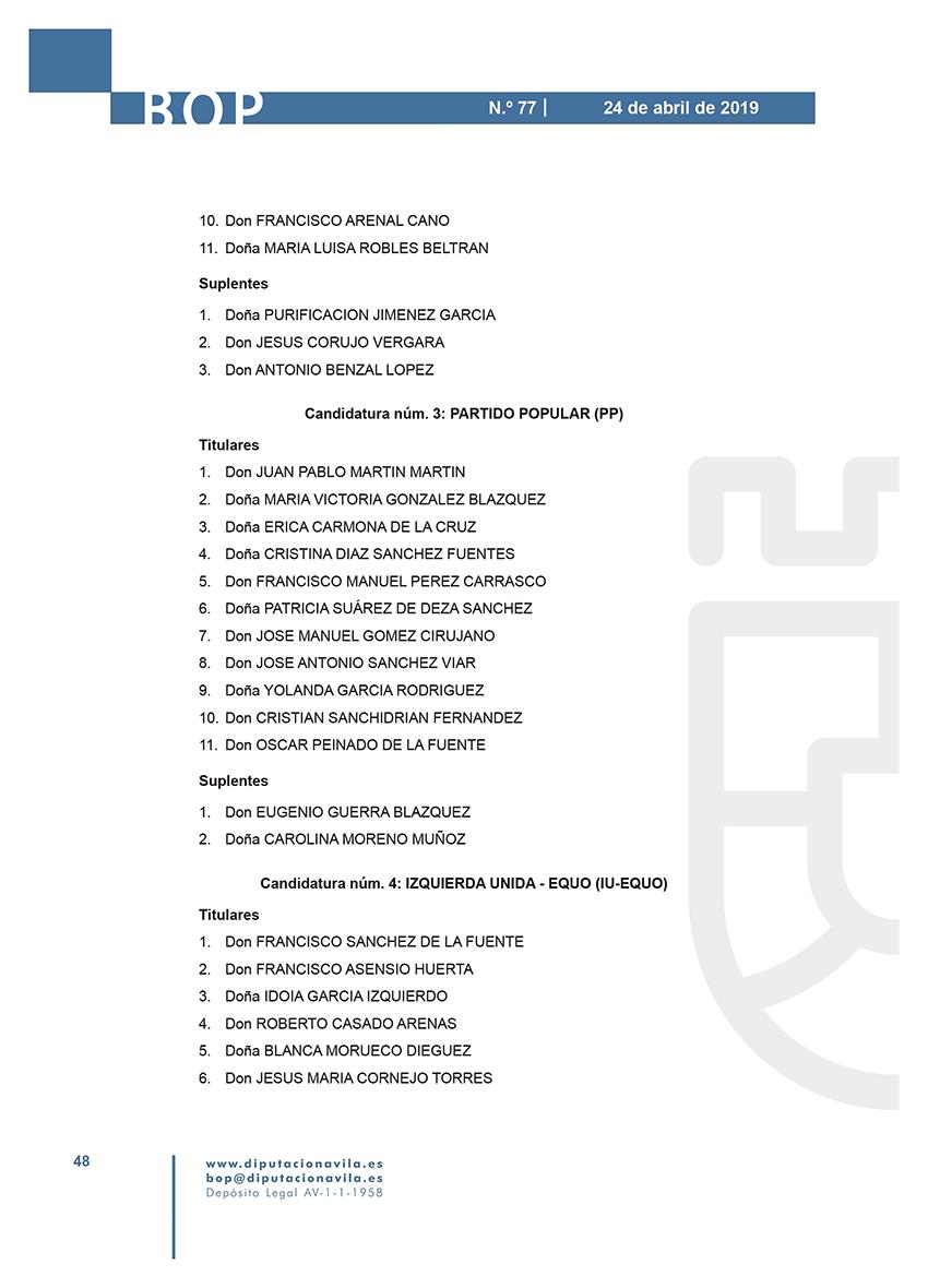 Elecciones Municipales 2019 - Sotillo de La Adrada - BOPA 24-04-2019 - TiétarTeVe
