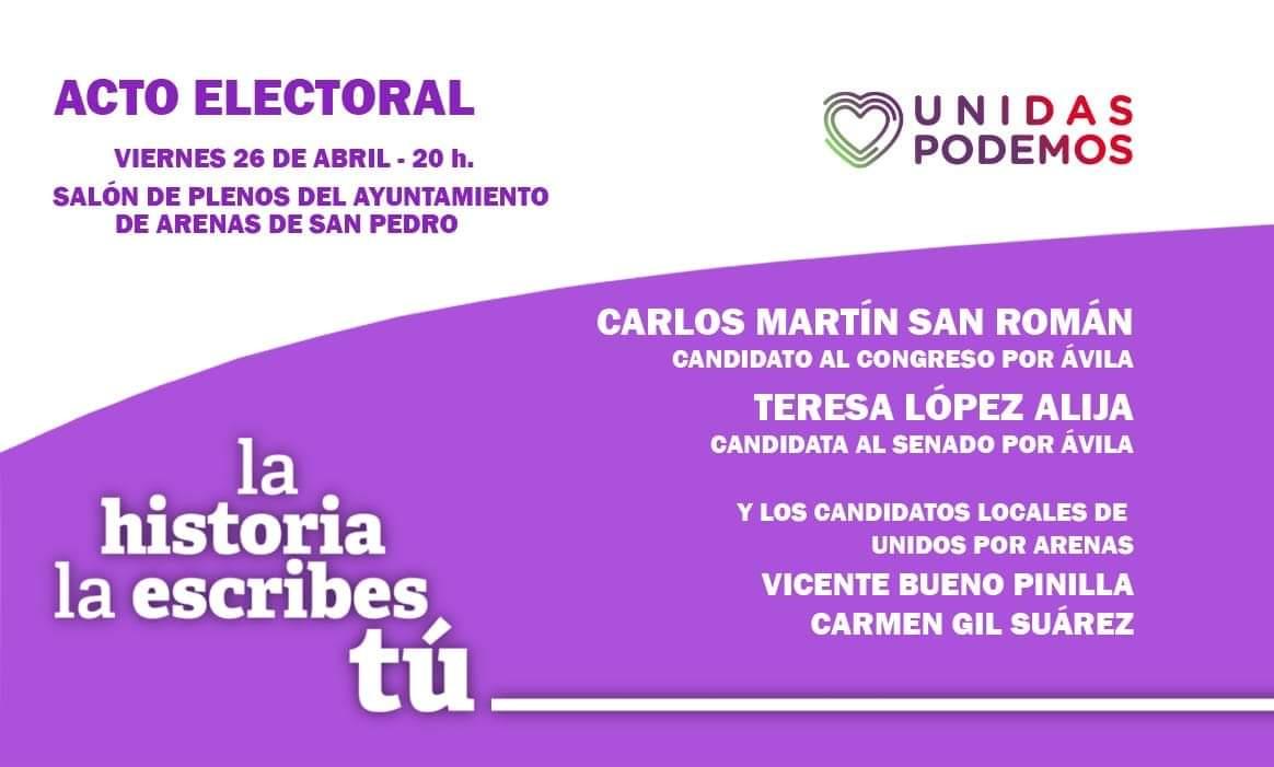 Acto Electoral de Unidos Por Arenas - Arenas de San Pedro - TiétarTeVe