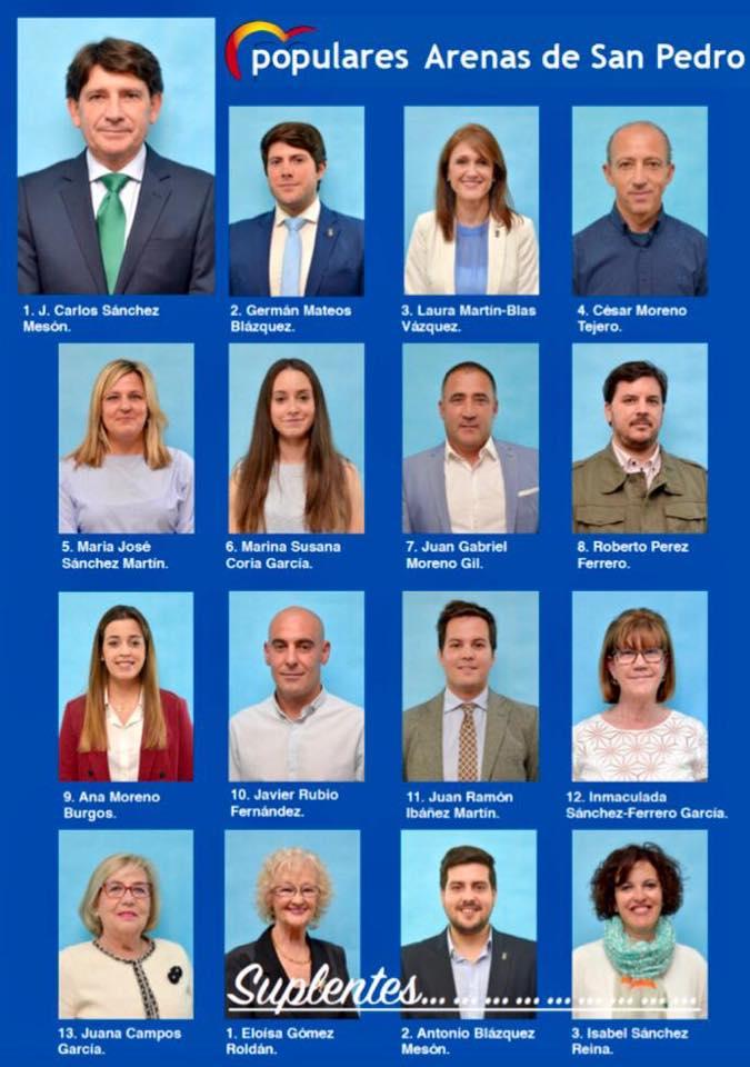 Candidatos PP Elecciones Municipales 2019 Arenas de San Pedro - TiétarTeVe