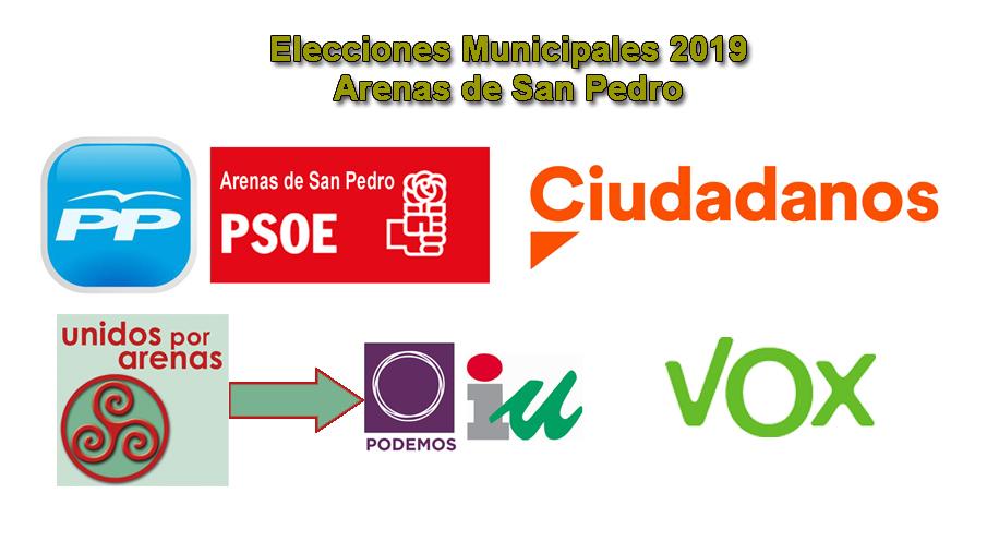 Partidos Arenas de San Pedro Elecciones Municipales 2019 - TiétarTeVe