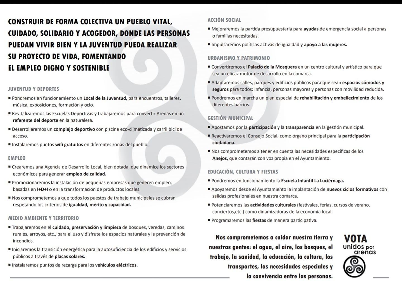 Programa Unidos Por Arenas -  Arenas de San Pedro - TiétarTeVe