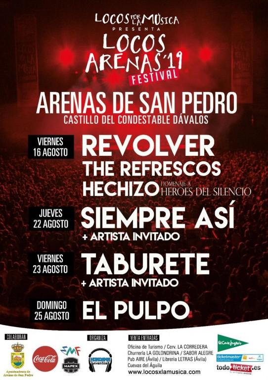 Conciertos de agosto de 2019 - Arenas de San Pedro - TiétarTeVe