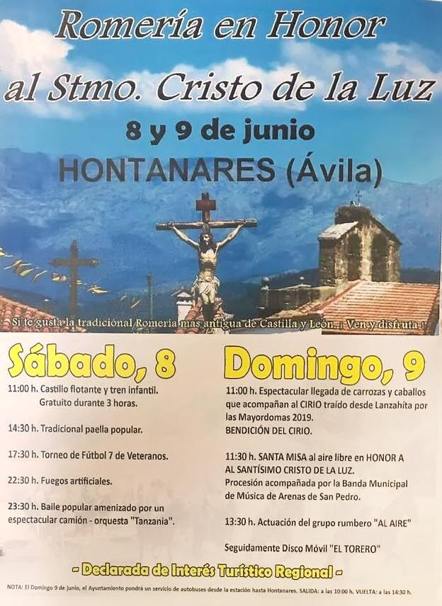 Romería del Cristo de La Luz - Hontanares - TiétarTeVe