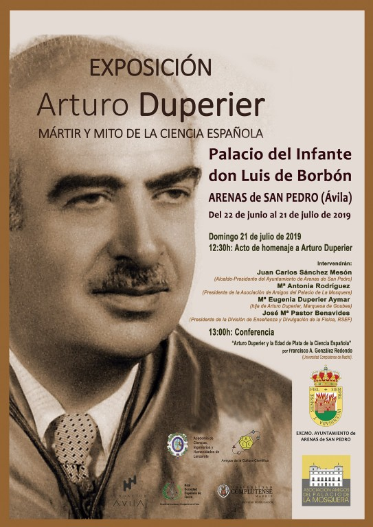 Cartel Exposición Arturo Duperier - Arenas de San Pedro - TiétarTeVe