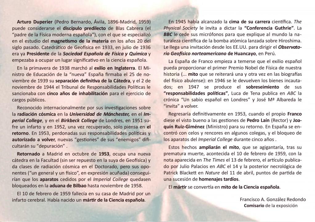 Díptico Expo Arturo Duperier - Arenas de San Pedro - TiétarTeVe