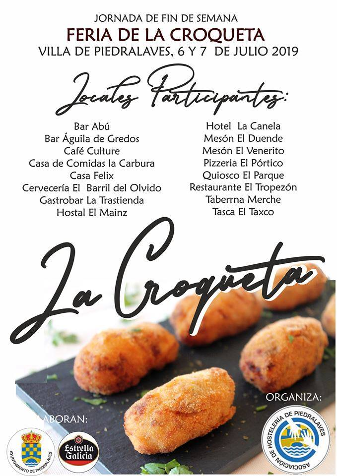 I Feria de la Croqueta en Piedralaves - TiétarTeVe