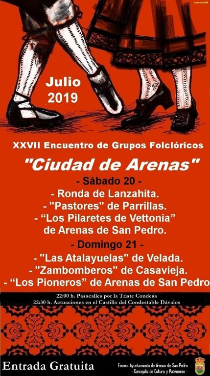 XXVII Encuentros Folclóricos - Arenas de San Pedro - TiétarTeVe