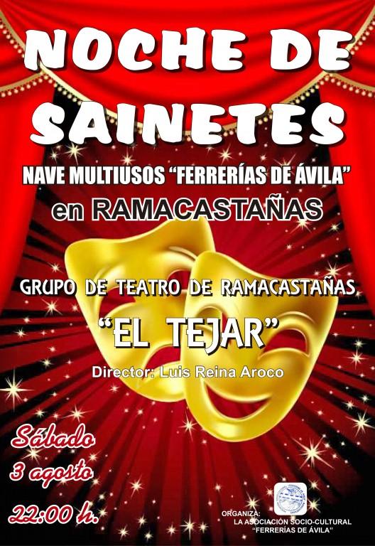Noche de Sainetes - Semana Cultural 2019 en Ramacastañas - TiétarTeVe
