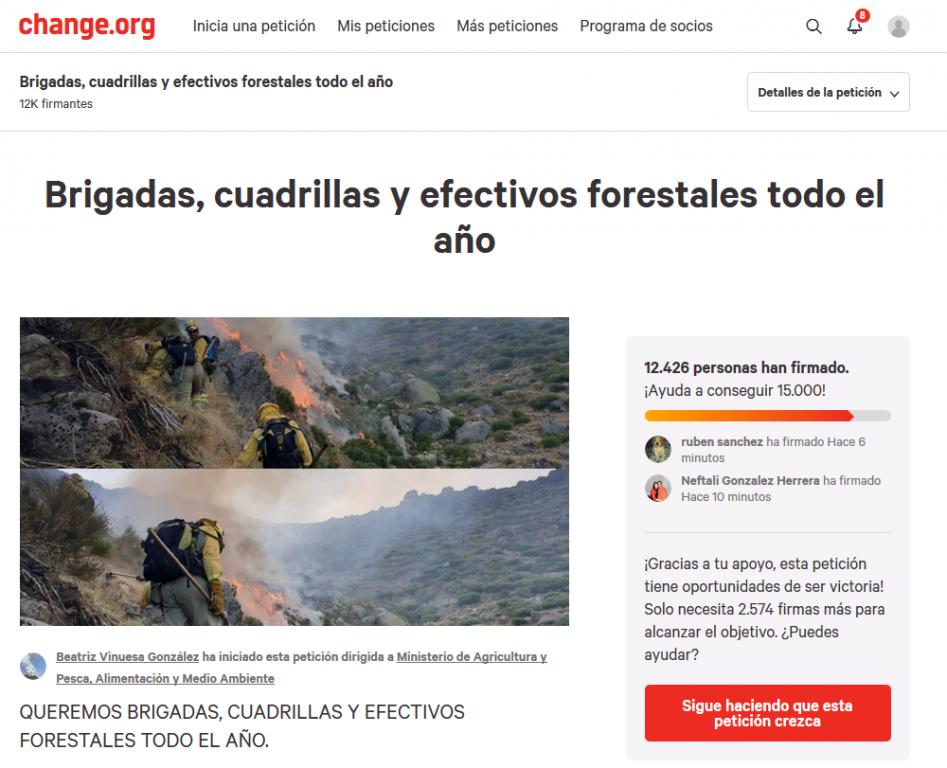 Campaña en Change.org para Brigadas Forestales todo el año - TiétarTeVe