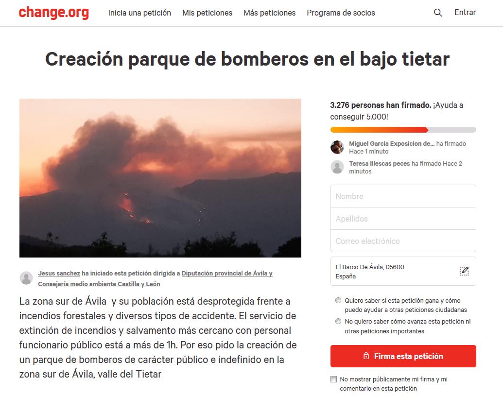 Parque Bomberos Change Org - TiétarTeVe