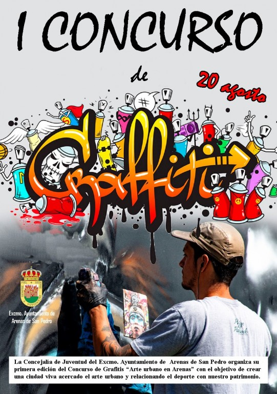 """I Concurso de Grafitis """"Arte Urbano en Arenas"""" - Arenas de San Pedro - TiétarTeVe"""