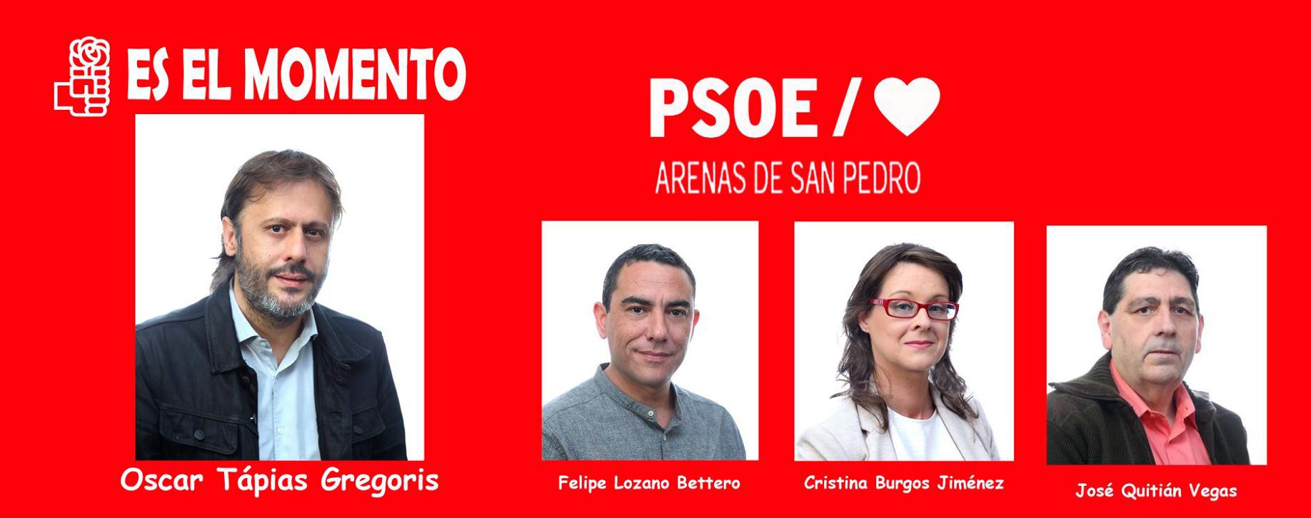 Concejales del PSOE - Arenas de San Pedro - TiétarTeVe