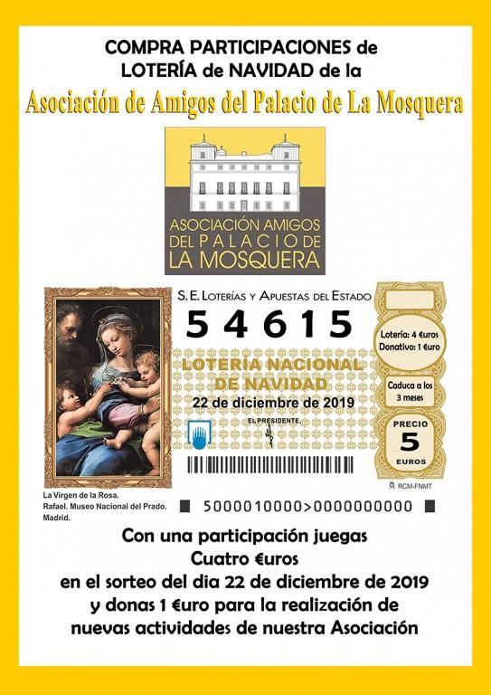 Asociación de Amigos del Palacio de La Mosquera - Lotería de Navidad - Arenas de San Pedro - TiétarTeVe