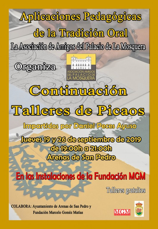 Asociación de Amigos del Palacio de La Mosquera - Continuación Talleres Picaos - Arenas de San Pedro - TiétarTeVe
