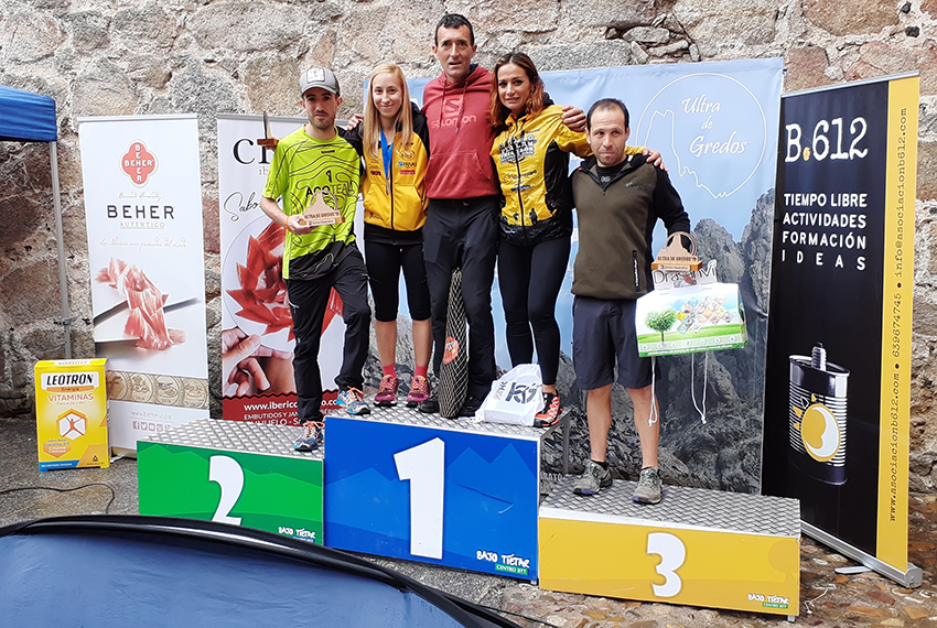 V Ultra de Gredos - podio Ultra masculino y femenino - - Arenas de San Pedro - TiétarTeVe