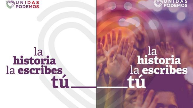 2019-11-10 Cartel Unidas Podemos - TiétarTeVe