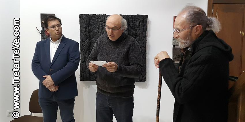 """Santos Jiménez - Cuevas del Valle - Inauguración del Centro Cultural y de Turismo """"Alcalde Licinio Prieto"""" con obras de Cristo Peregrín - TiétarTeVe"""