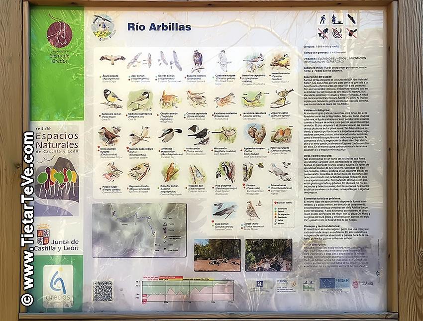 Panel explicativo Ruta río Arbillas - TiétarTeVe