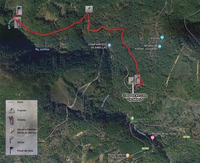 Mapa Ruta Arbillas - TiétarTeVe