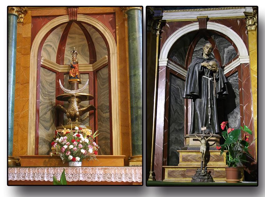 Virgen del Pilar y San Pedro de Alcántara - Iglesia de Nuestra Señora de la Asunción - Arenas de San Pedro - TiétarTeVe