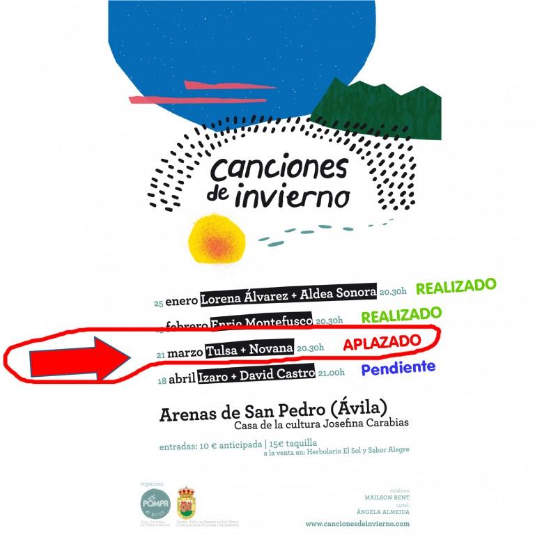 Canciones de Invierno - Arenas de San Pedro - APLAZADO concierto 21 de marzo - TiétarTeVe