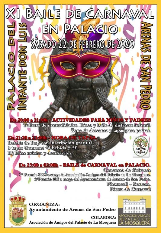 Baile de Carnaval en el Palacio de La Mosquera - Arenas de San Pedro - TiétarTeVe