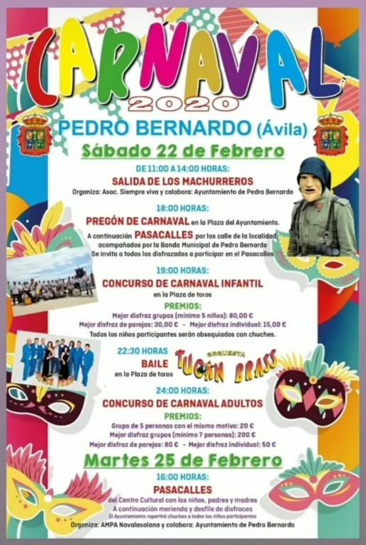 Carnaval 2020 en Pedro Bernardo - TiétarTeVe