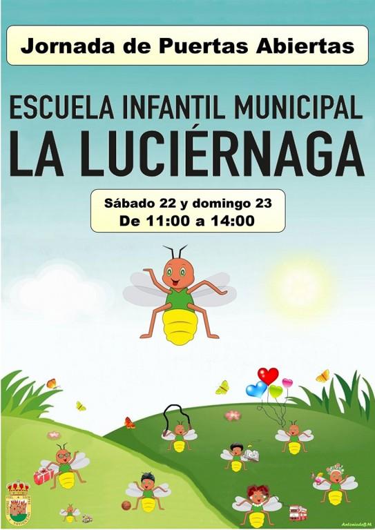 "Cartel Jornadas de Puertas Escuela Infantil ""La Luciérnaga"" - Arenas de San Pedro - TiétarTeVe"