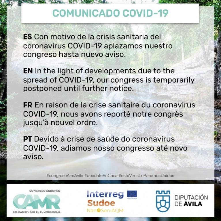 APLAZADO Congreso Europeo Calidad Aire - Arenas de San Pedro - TiétarTeVe