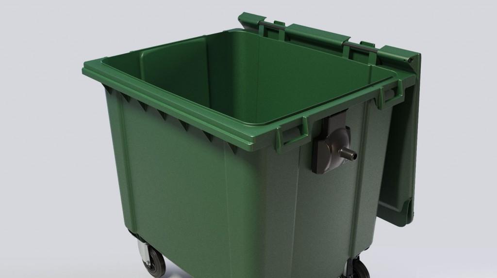 Contenedor basura tapa abierta grande - TiétarTeVe