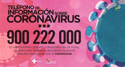 Coronavirus JCyL Telefono - TiétarTeVe