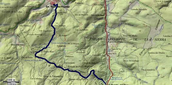 GR-293 - Etapa 5 Tramo 13 - Mapa Localización - TiétarTeVe